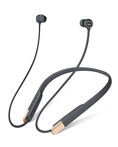 AUKEY Bluetooth Kopfhörer 5 in Ear, Neckband Kopfhörer mit Magnetische Play-/Pause-Funktion, Schnellladen über USB-C, aptX Low Latency, 3 EQ Klangmodi, 8 Std, IPX6 Wasserdicht, Key Series B33