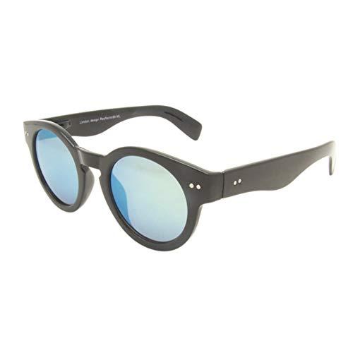 Chic-Net Sonnenbrille Round Glasses Retro Panto 400UV verspiegelt Pünktchen türkis