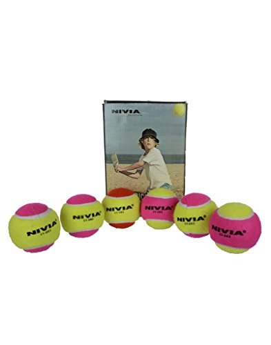 NIVIA CRICKET TENNIS BALL HEAVY WEIGHT MULTICOLOUR  available at amazon for Rs.400