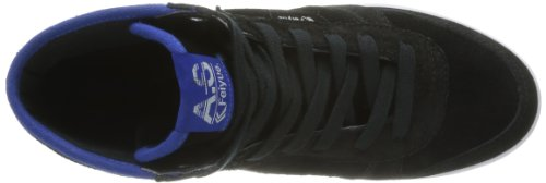 Feiyue As High Mvp Leather, Baskets mode mixte adulte Noir (630 Black/White/Blue)