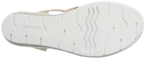 Rieker Damen V6519 Offene Sandalen mit Keilabsatz Mehrfarbig (lightrose / 31)