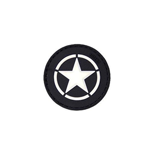 Patch Us Star Stern Army Airsoft Softair America War Einheit Aufnäher 3D Rubber 4,5cm #20287 (Wars Geschenke Stars)