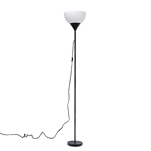 LED Stehlampe Sunllipe Stehleuchte modern Deckenfluter 9W, 3000K Warmweiße Standleuchte, Augenfreundliches Licht Stehleuchten für Schlafzimmer, Wohnzimmer - 180cm (Schwarz)