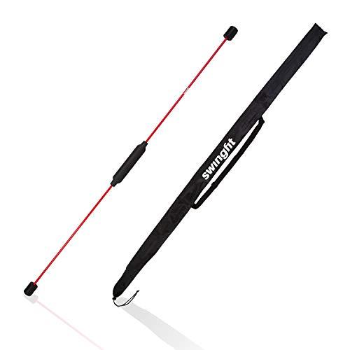 Swingfit Schwingstab inkl. praktischer Tasche & Rücken Trainingsplan - Swingstick für Tiefenmuskulatur & Reha - Gymnastik Schwungstab für Fitness