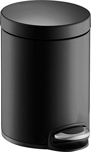Helit H2403495 - Tret-Abfallbehälter 'the silent' 5L, schwarz