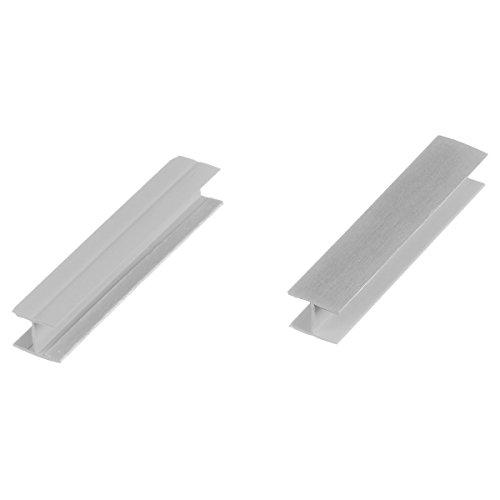 HOLZBRINK Verbinder Sockelblende Sockelleiste für Einbauküche 150mm Höhe ALUMINIUM Gebürstet - HBK15
