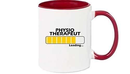 Shirtinstyle Taza de café taza de café Cargando Fisioterapeuta, mejor Profesiones - Borgoña