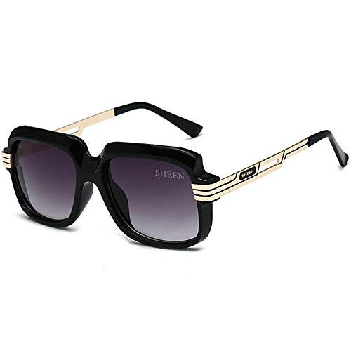 SHEEN KELLY Große Luxus Retro Sonnenbrille Herren Quadrat Vintage Designer Damen Sonnenbrille Pilot Sport Fahren Avitor Gradienten Linse Schwarz