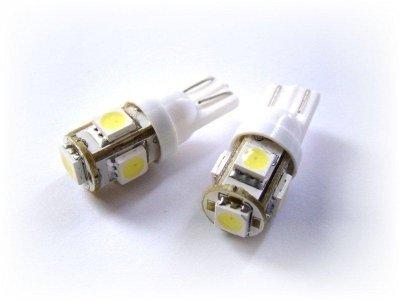 2 x Soffitte mit 5 Power SMD LED 12V 12-V W5W Weiss / Sofitte / KFZ / PKW / Autolampe