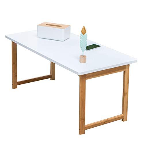 Mesa plegable Mesa de Centro Blanca Plegable, pequeña Mesa de té para Sala de Estar, Escritorio de computadora de Estilo nórdico (Tamaño : 100×48×44.5cm)