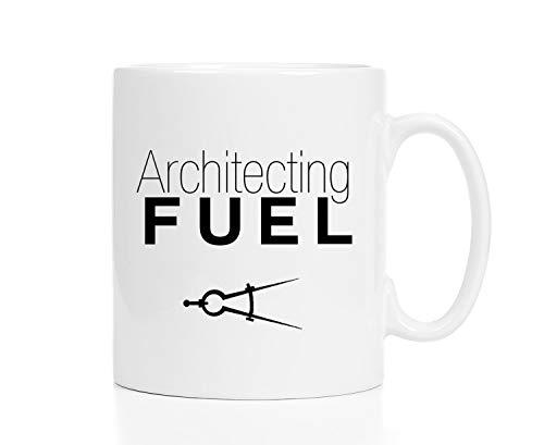 Pottelove Personalized Funny Coffee Mug Tea Cups, Gift For Architect Architect Mug Architect Gift Architect Fuel Coffee Cup 11 Oz White