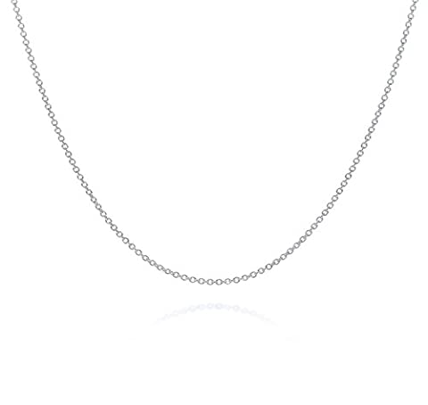 2mm thick solid sterling silver 925 stamped Italian BELCHER rolo cable round link marine chain necklace chocker bracelet anklet with spring ring clasp jewellery jewelry - inch
