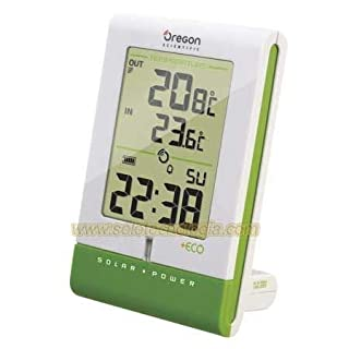 Oregon Scientific RMR 331 ES Termómetro Interior/Exterior Solar con Reloj, Color Blanco (B002TJ9NS0) | Amazon price tracker / tracking, Amazon price history charts, Amazon price watches, Amazon price drop alerts