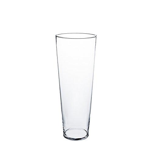 Jarrón cónico de cristal CONNY, transparente, 60 cm, Ø 18 cm - Flor