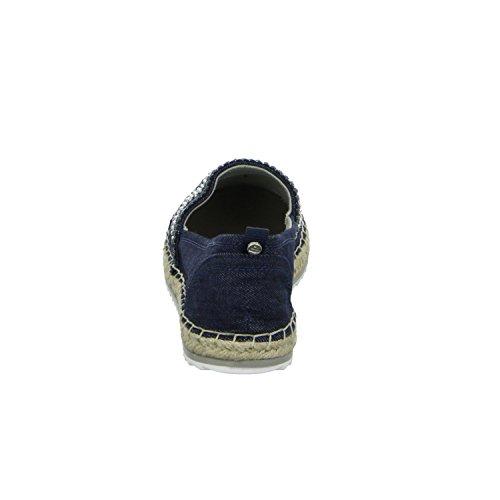BULLBOXER 011018F4T Damen Slipper Halbschuh sportlicher Boden Casual Blau (Blau)