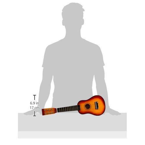 Gitarre / Musikinstrument für Kinder, mit Metallsaiten und Plektrum, geeignet für Kinder ab 3 Jahre - 6
