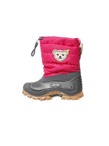 Steiff Knopf im Ohr - Kinder Schuhe Winter Stiefel Wasserfeste Boots Erica für Jungs und Mädchen, Farbe:Pink, Größe:EUR 28