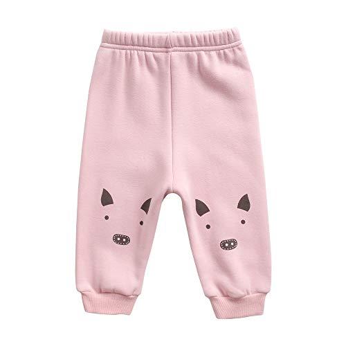 Sanlutoz Animal Un Pantalon Impression Bébé Hiver Dessin animé Un Pantalon pour Bébé Garçons Doux Coton (2-3 ans/100cm, BPW8164-PIG)