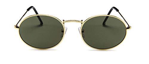 WSKPE Sonnenbrille Frauen Männer Sonnenbrillen Gläser Lady Luxus Metall Sonnenbrille Uv400 Dunkel Grüne Linse