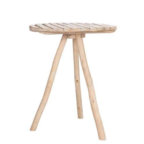 TABLE DE BAR RONDE TRÉPIED CHÊNE BOIS NATUREL