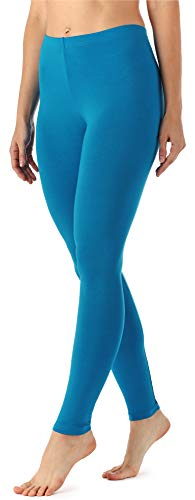 Merry Style Merry Style Damen Lange Leggings MS10-143 (Blau, 34 (Herstellergröße: XS))
