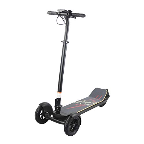 WSBBQ DREI-Rad-Elektro-Scooter, LED-Debugging Faltgleichgewichts-Scooter, 3 Speed Adjustable Balance Scooter,Red