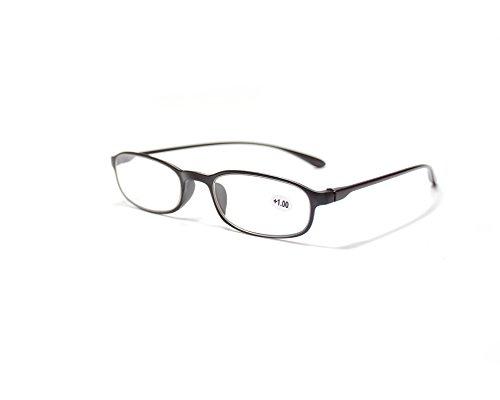 Jee Lesebrillen herren damen TR90 reading glasses 2028(schwarz,+2.50)
