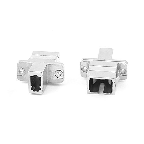 DealMux a15092200ux0675 SC-LC Female to Female Hybrid Fiber Optical Connector Adapter -
