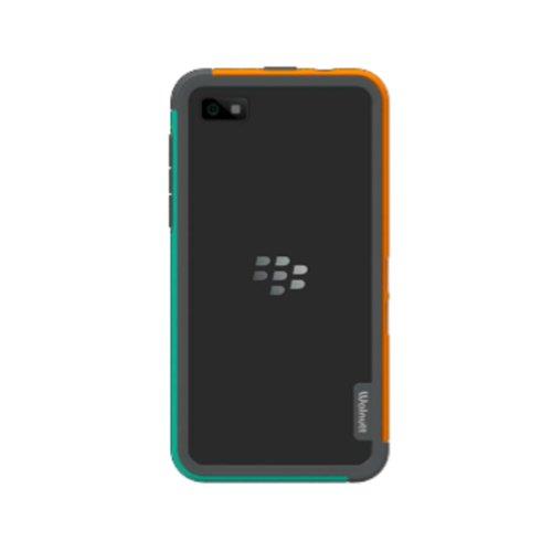 Zenus Walnutt Bumper Trio Case/Tasche Orange/Grün für Blackberry Z10