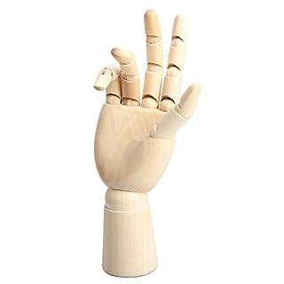 Wooden Hand Model - SODIAL(R) 18*6cm Wooden Articulated Right Hand Manikin Model Gift Art Alternatives