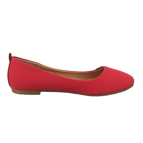 Ital-Design , Coupe fermées femme Rouge - Rouge