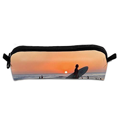 Pengyong Costa Rica Surf Beach Student Federmäppchen mit Reißverschluss, kleine Kosmetiktasche, Make-up-Tasche, Münzbörse, für Kinder, Jugendliche und andere Schulbedarf