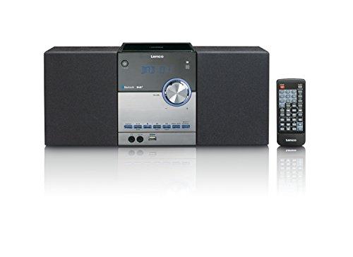 Lenco kompakte Stereoanlage MC-150 mit DAB+, FM Radio, CD/MP3-Player, Bluetooth und USB, Fernbedienung, 2 x 10W schwarz