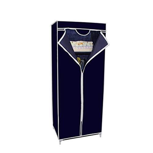 Armario de tela, tela no tejida tubo de acero recubierto por rociado resistente a la humedad e insectos,Blue