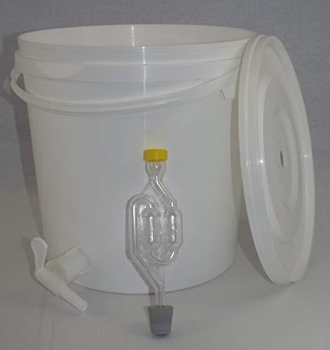 Nahrungsmittel-selbermachen Gärbehälter aus lebensmittelechtem Kunststoff in verschiedenen Varianten (12 Liter mit Ablasshahn)