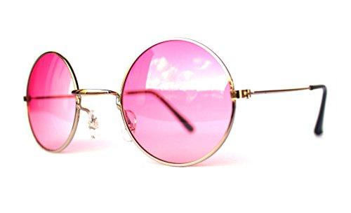 kleine mini Junior Kindersonnenbrille Kinderbrille Sonnenbrille für Kinder Jungen und Mädchen im Jhon Lennon Style (V16-JLK-1138-rosa)