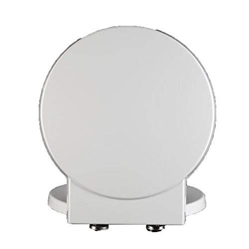 DNSJB-Toilettensitz-Toilettendeckel Mit Antibakteriellem Harnstoff-Formaldehyd-Harz Stumm Verdicken Toilettensitz-Abdeckung Für Runde Form-Toilette (Color : White, Size : 41.1) (Runde Wc-sitz Weiß)