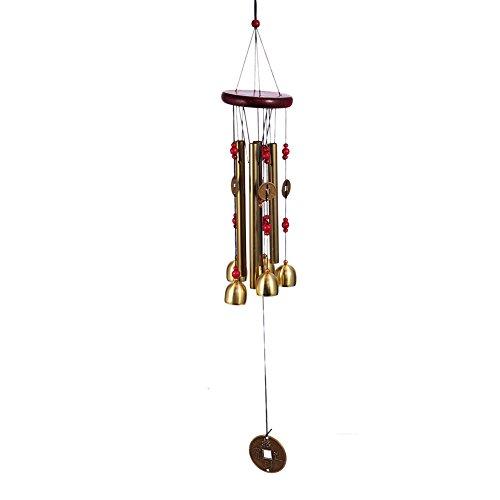 Windspiel Klangspiel Metall für Fenster Balkon Garten Outdoor Deko Glückbringer LianLe (Chinas Altertum Mützen A)