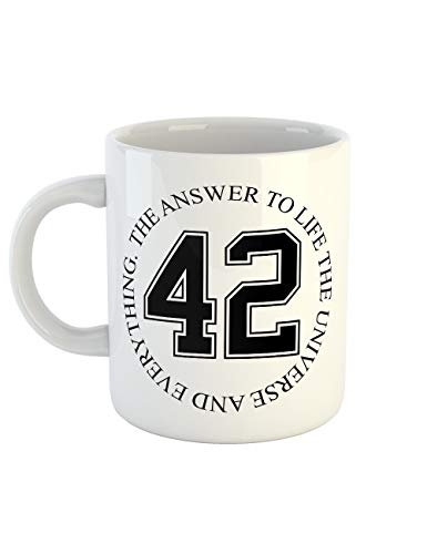 clothinx Kaffeetasse mit Aufdruck The Answer To Life The Universe And Everything 42