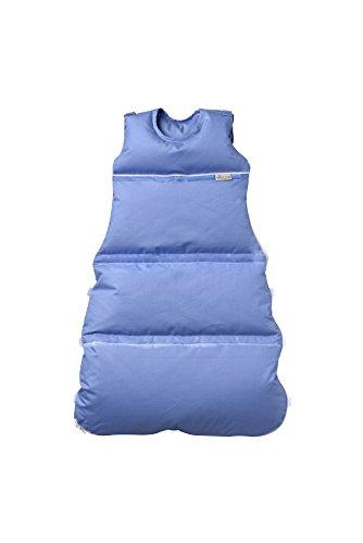Premium Daunenschlafsack, längenverstellbar, Alterskl. ca 3-20 Monate, azur, 80 cm