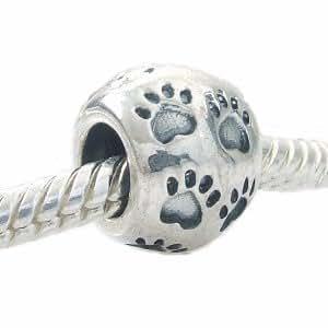Paw Print Charm for 3mm European Bracelets