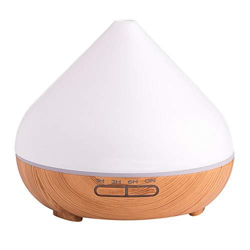 USB Eléctrico Aromaterapia Aire Humidificador Madera Grano 7 Color Aceite Esencial Aroma Difusor con luz LED Granero ultrasónico del difusor Capacidad 300ml del purificador SomeoLiky