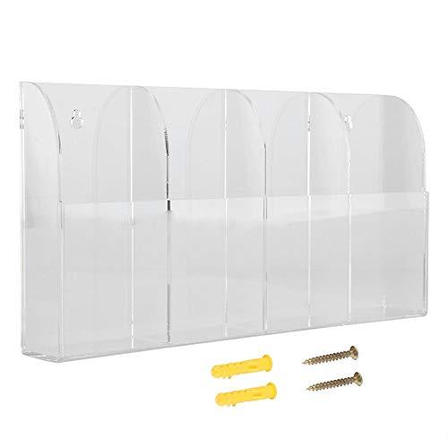 FTVOGUE Fernbedienungshalter, Acryl-Wandhalterung, transparent, Fernbedienung, Aufbewahrungsbox für Klimaanlagen, Stereo, TV-Fernbedienung