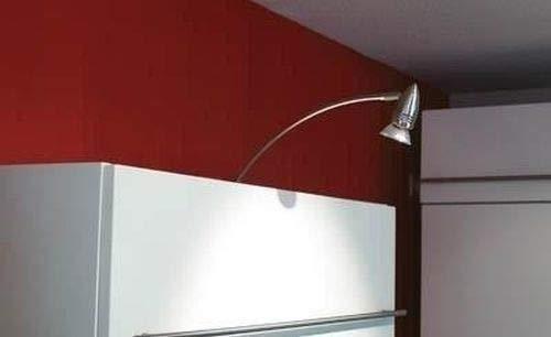 Top-moderne Schrankaufbauleuchte Pilas Möbelleuchte Möbellampe bis zu 50 Watt aus Edelstahl gebürstet Schlafzimmer Badezimmer Küche Lampe Leuchten innen - Edelstahl Küche Top
