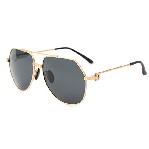 LKVNHP Neue Art UndWeise DerQualitäts -Polygon Polarisierte Sonnenbrille -Mann Hd Tac Polaroid -Sonnenbrillen Man Driving Schwarz Braun Anti Gelegt UvGold -
