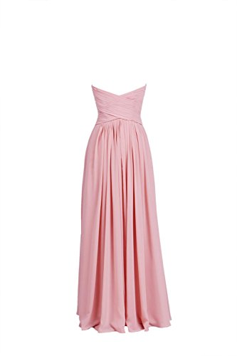 YiYaDawn Langes Brautjungfernkleid Cocktailkleid für Damen Weinrot