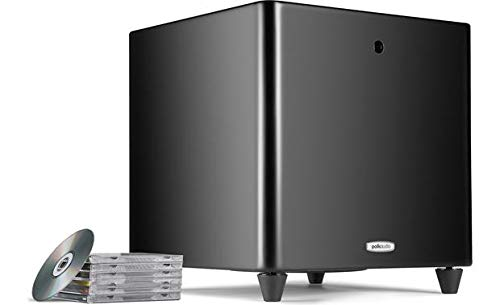 Polk Audio DSW PRO 550wi Powered Subwoofer with Remote, 200w, 10 Inch, Class 'D' (Black)