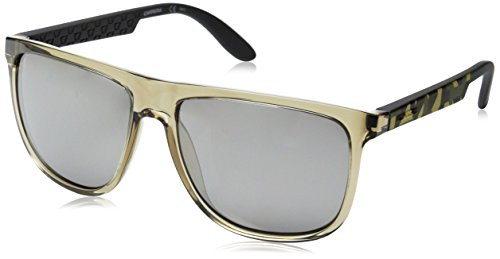 2742c96202 Carrera Ca5003s Rectangular Sunglasses Gray Camel Sand And Black Mirror 58  Mm