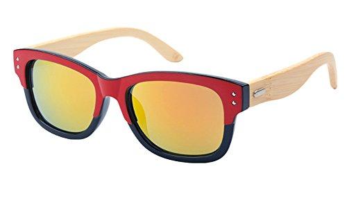 Insun Herren Sonnenbrille Gr. Einheitsgröße, Mehrfarbig - 6919MC4 Wood Arm