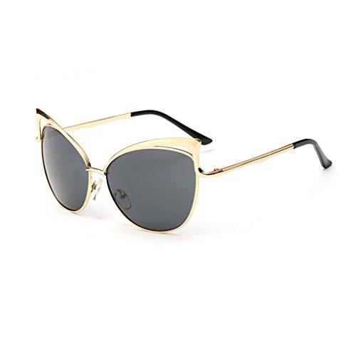Junecat Frauen der Männer-Katze-Ohr Hohl Rahmen UV 400 Schutz Sonnenbrillen für Outdoor-Shopping